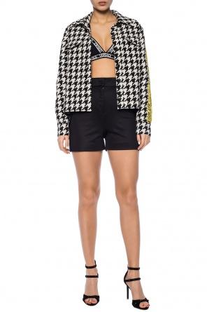 Branded high-waisted shorts od Versace Versus