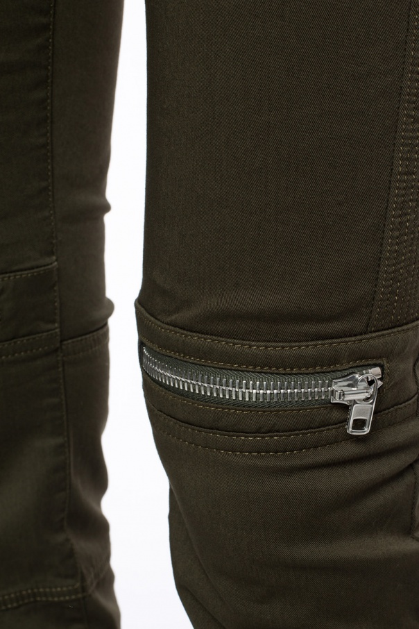 Trousers with decorative zips od Givenchy
