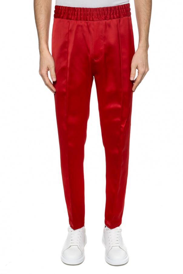Logo-embroidered trousers od Givenchy