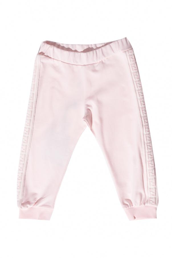 Fendi Kids Side-stripe sweatpants