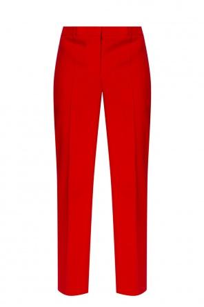 品牌标识饰羊毛长裤 od Givenchy