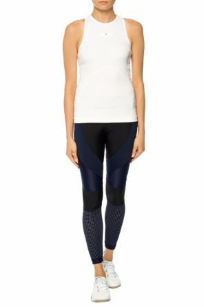 Mesh-trimmed leggings od ADIDAS by Stella McCartney