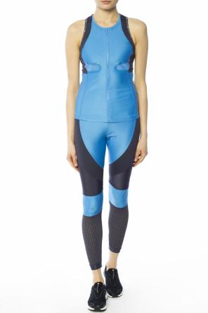 Leggings with perforated inserts od Adidas by Stella McCartney