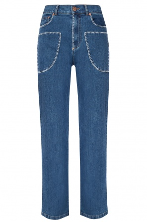 Jeans with an embroidered pttern od See By Chloe