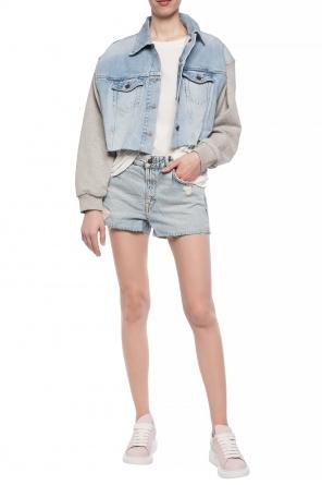 23157ccff78  cleo  denim shorts od AllSaints   ...