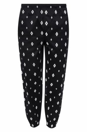 Logo-embroidered trousers od Marcelo Burlon