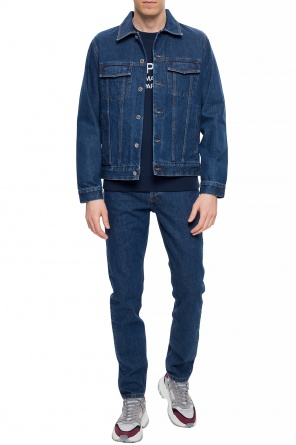 Jeans with stitching details od A.P.C
