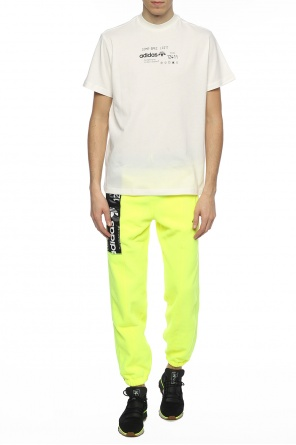 Patched fleece pants od Adidas by Alexander Wang