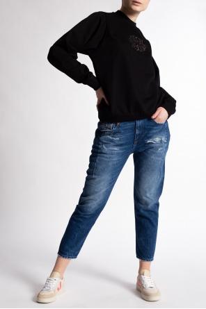 'd-fayza' jeans with raw edge od Diesel