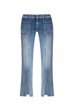 Flared jeans with slits od Diesel