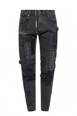 'd-strukt' jeans with patches od Diesel