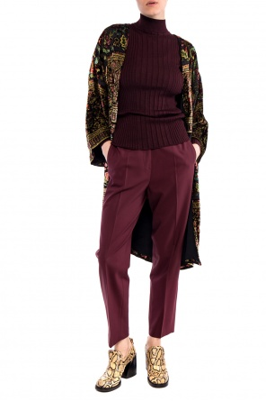 Pleat-front wool trousers od Etro