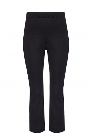 Side-stripe pleat-front trousers od Moncler