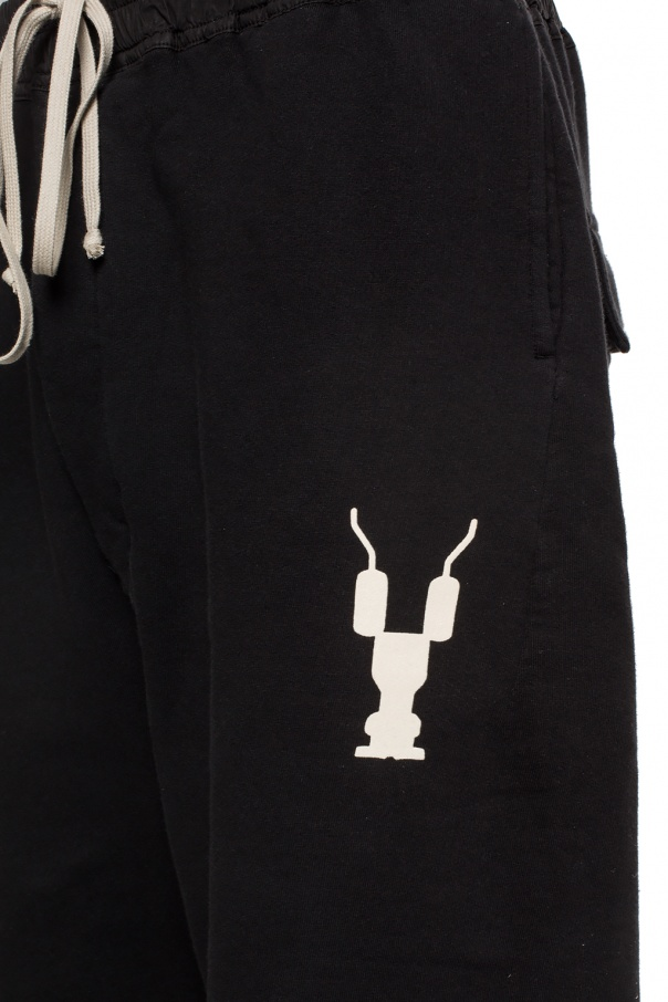 Printed sweat shorts od Rick Owens DRKSHDW