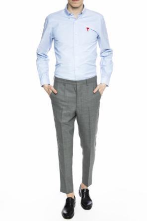 Pleat-front trousers with tapered leg od Ami Alexandre Mattiussi