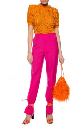 Wool pleat-front trousers od Ami Alexandre Mattiussi