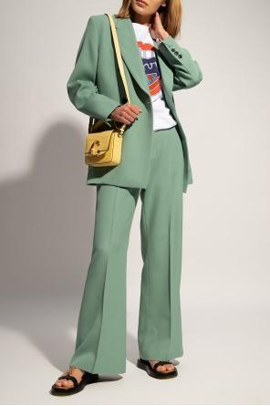 Wełniane spodnie w kant od Ami Alexandre Mattiussi