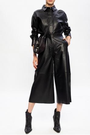 Wide-legged leather trousers od Samsøe Samsøe