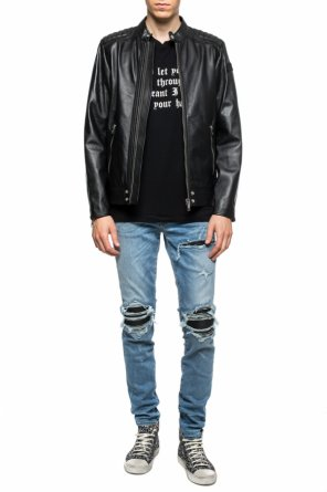 Jeans with decorative inserts od Amiri