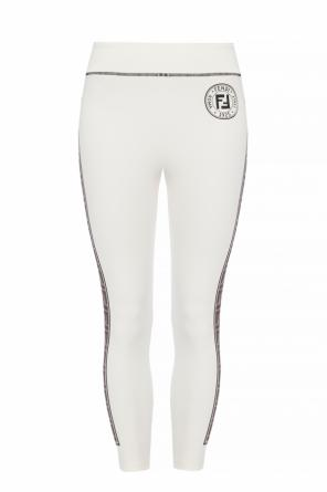 Side-stripe leggings od Fendi