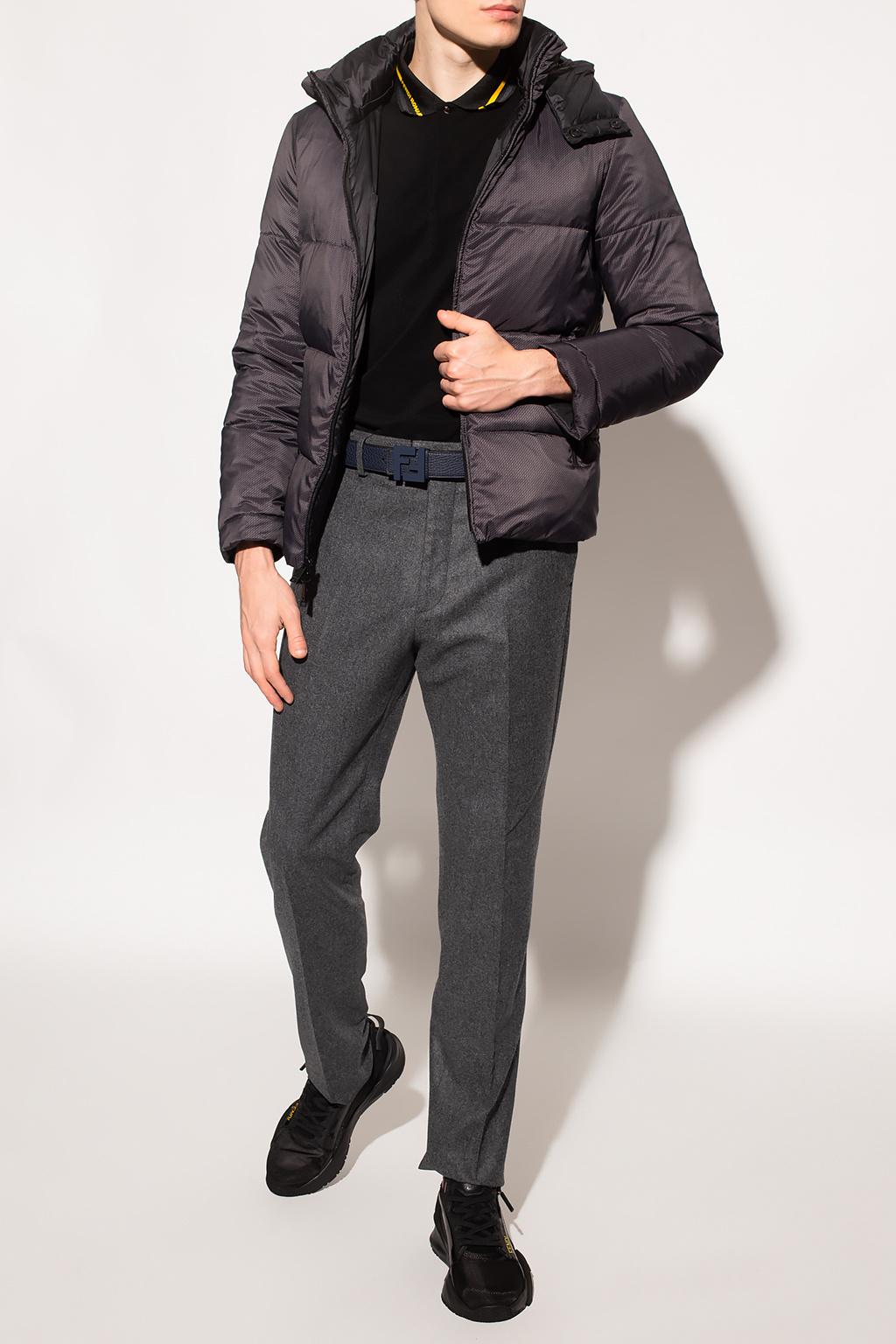 Fendi Wool pleat-front trousers