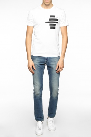 Jeans with embroidered motif od Fendi
