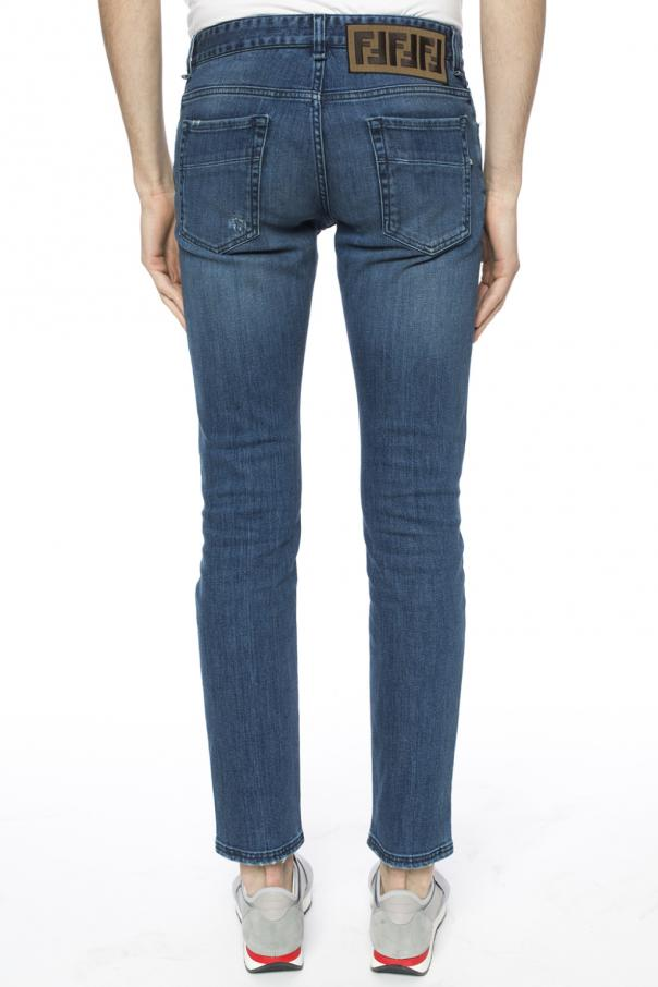 Patched jeans od Fendi