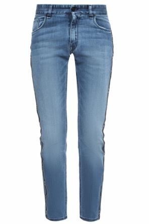Side-stripe jeans od Fendi