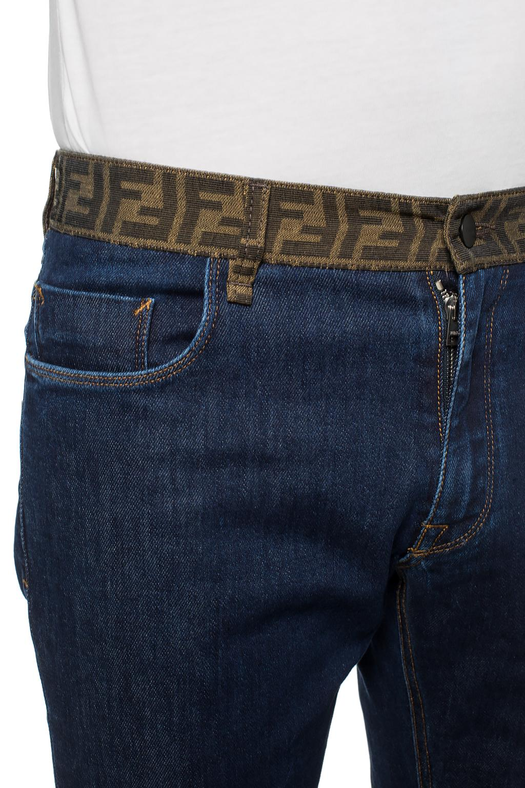 Fendi Logo-embroidered jeans