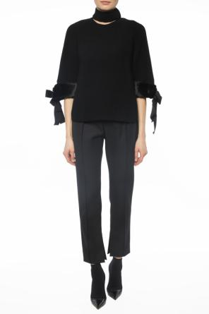 Trousers with logo band od Fendi