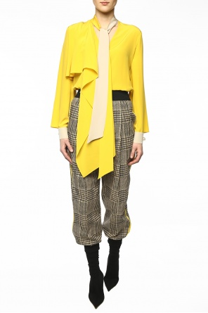 Houndstooth check trousers od Fendi