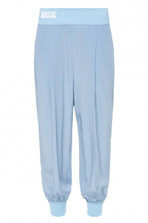 Side-stripe silk trousers od Fendi