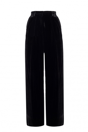 Velvet trousers with logo od Fendi