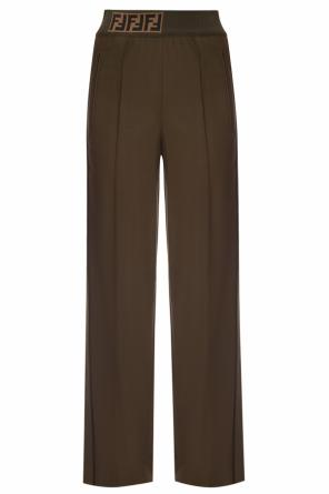 Trousers with sewn edges od Fendi
