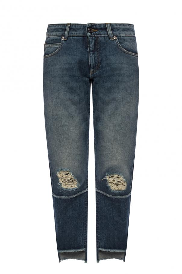 Dolce & Gabbana Raw-trimmed jeans