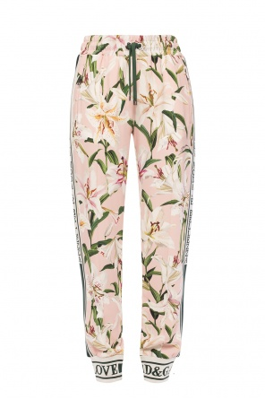 Floral motif trousers od Dolce & Gabbana