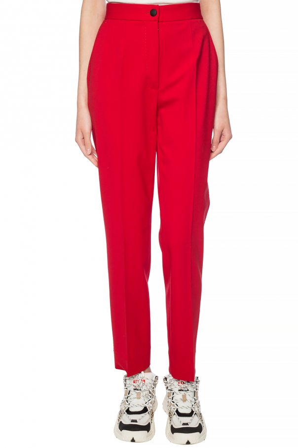 Creased wool trousers od Dolce & Gabbana