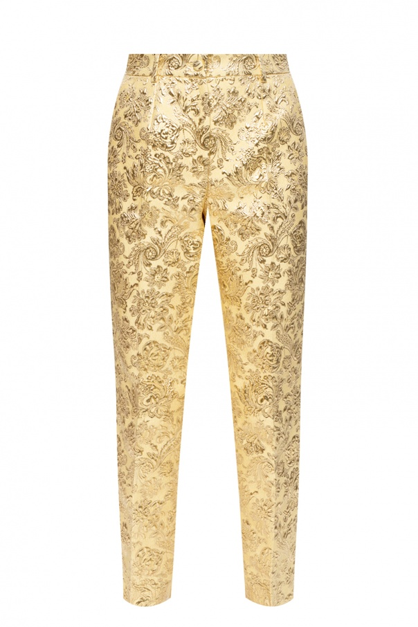 Dolce & Gabbana Patterned pleat-front trousers