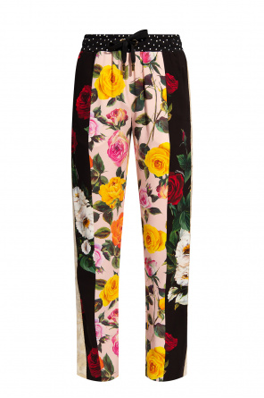 Floral print trousers od Dolce & Gabbana