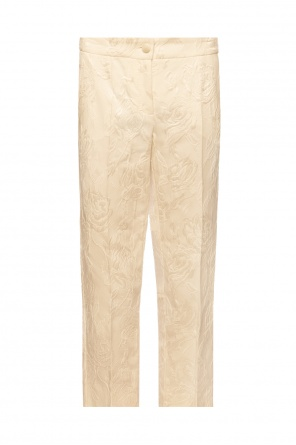 Floral motif creased trousers od Dolce & Gabbana