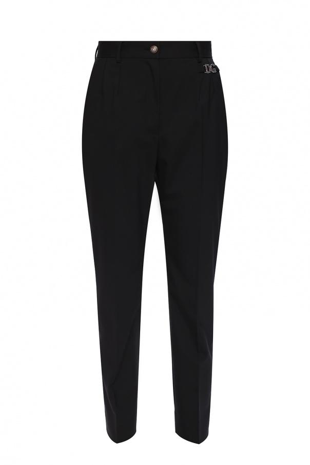Dolce & Gabbana Wool pleat-front trousers