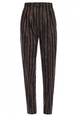 Narrow leg pleat-front trousers od Golden Goose
