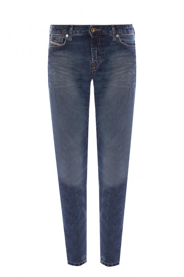 Diesel 'Gracey-Ne' raw-trimmed jeans
