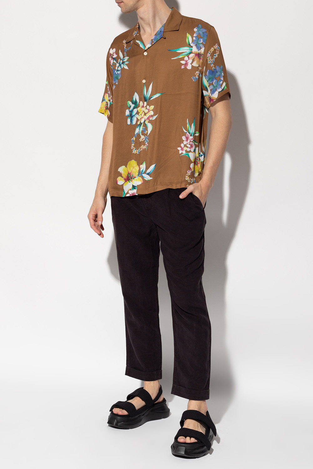AllSaints Trousers with turn up cuffs