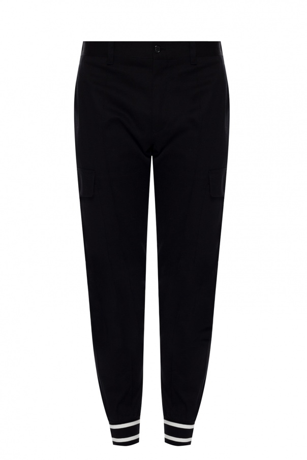 Dolce & Gabbana Trousers with rib cuffs