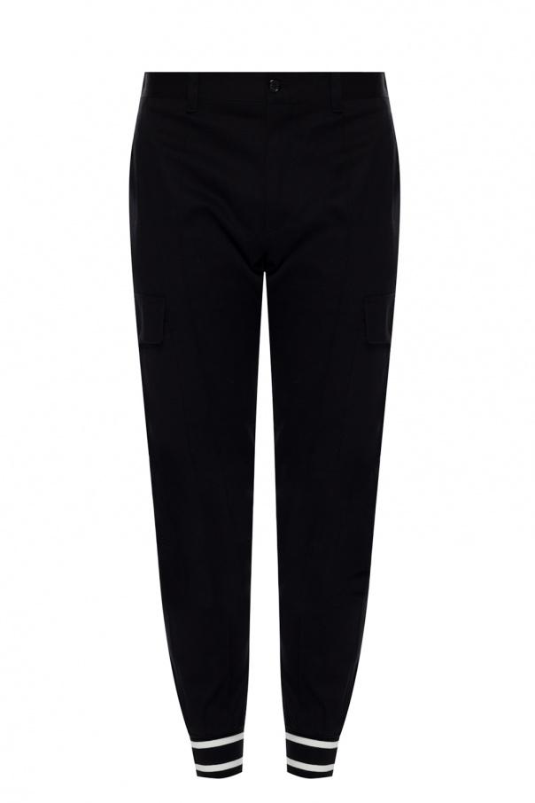 Dolce & Gabbana Spodnie ze ściągaczami