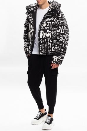 Spodnie dresowe z naszywką z logo od Dolce & Gabbana