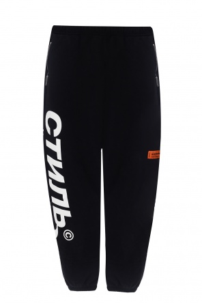 Logo-patched sweatpants od Heron Preston
