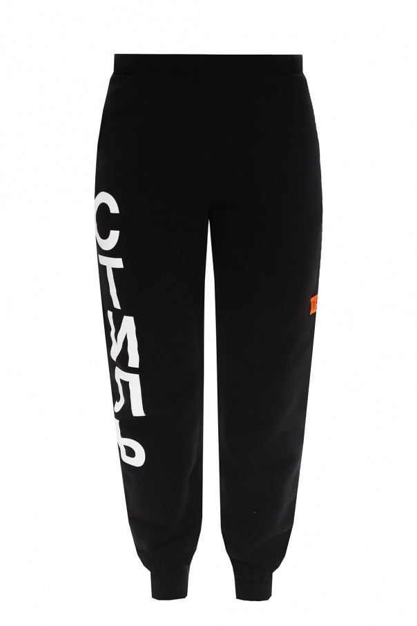 Heron Preston Logo-patched sweatpants