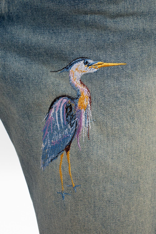 Heron Preston Jeansy z wyszytym wzorem